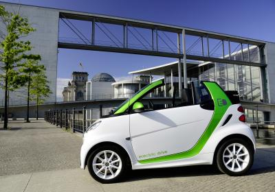 (smart Fortwo Electric Cabriolet. Credit: Daimler)