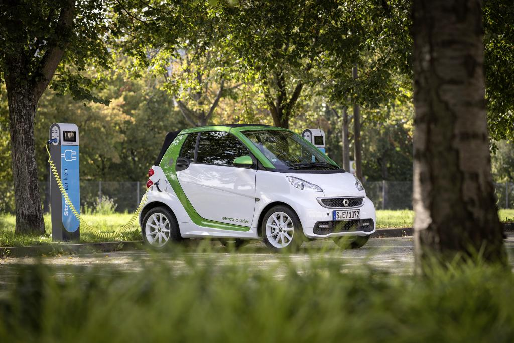 (smart Fortwo Electric Coupe. Credit: Daimler)